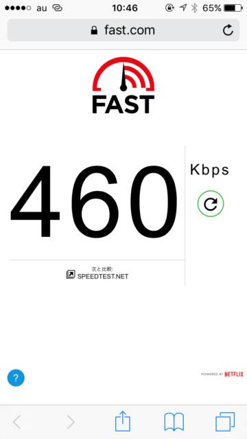 0SIMの通信速度の画像